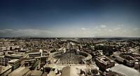 Aerial view of St. Peter's Square, Rome, Italy