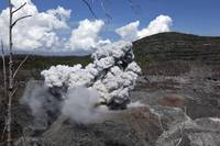 Ibu eruption Halmahera Island Indonesia