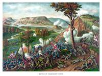 American Civil War print featuring the Battle of M