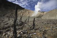 Papandayan crater Java Island Indonesia