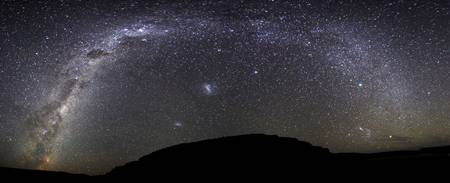 Panoramic view of the Milky Way over Somuncura, Ar