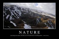 Nature: Inspirational Quote and Motivational Poste