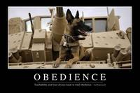 Obedience: Inspirational Quote and Motivational Po