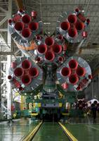 The boosters of the Soyuz TMA14 spacecraft