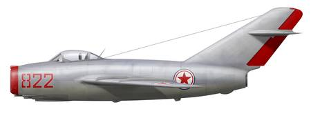 An MiG-15bis of the North Korean Air Force