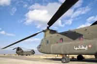 Italian Army CH-47C Chinook helicopters at Forward