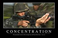 Concentration: Inspirational Quote and Motivationa