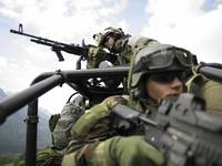 U.S. Special Forces on patrol in a special operati