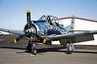 A North American T-28 Trojan military trainer airc