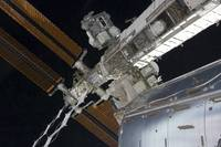 A portion of the International Space Station