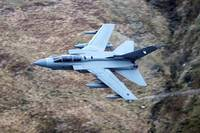 A Royal Air Force Tornado GR4 during low fly train