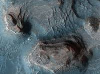 Mesas in the Nilosyrtis Mensae region of Mars