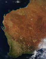 Satellite view of Western Australia