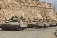 Israeli Defense Force Merkava Mark IV battle tanks