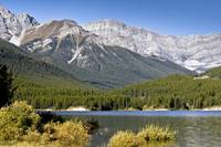 Spray Lake and the Canadian Rockies in Banff Natio