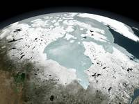 Hudson Bay sea ice on April 29, 2006