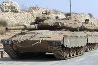 The Merkava Mark IV main battle tank of the Israel