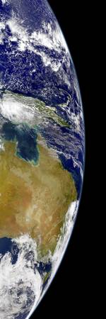 A partial view of Earth showing Australia and the