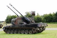 A Gepard antiaircraft tank of the Belgian Army