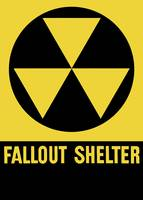 Cold War era fallout shelter sign