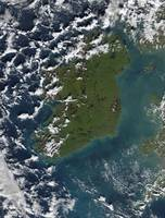 Phytoplankton bloom off the coast of Ireland