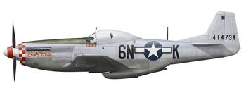 P-51D Mustang, nicknamed Baby Mine