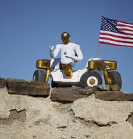 Robonaut 2 poses atop its new wheeled base, Centau
