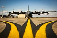 A MC-130E Combat Talon I awaits its next mission o