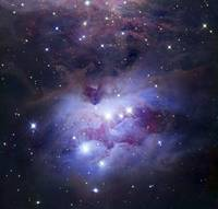 NGC 1977 is a reflection nebula northeast of the O