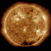 Solar activity on the Sun