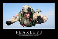 Fearless: Inspirational Quote and Motivational Pos