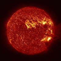 A M-2 solar flare with coronal mass ejection