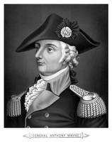 Revolutionary War Print of General Mad Anthony Way