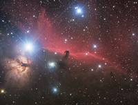 Horsehead Nebula and Flame Nebula in Orion