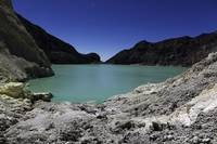 Acidic crater lake on Kawah Ijen Volcano, Java, In