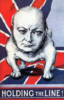 Vintage World War II poster of Winston Churchill a