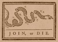 The Join or Die print was a political cartoon crea