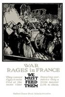 Vintage World War One poster of refugees from war