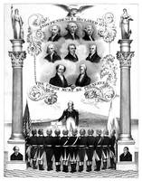 Vintage American history print of the first eight