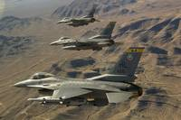 Fighter jets return from the Nevada Test and Train