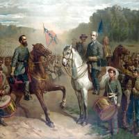 """""""Vintage Civil War painting of General Lee and Jack"""" by stocktrekimages"""