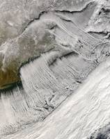 Cloud streets off New England and the Maritimes