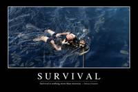 Survival: Inspirational Quote and Motivational Pos