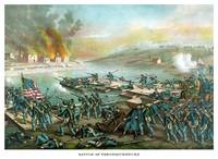 Vintage Civil War print of the Battle of Frederick