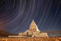 Star trails above Saint Thaddeus Monastery, Iran
