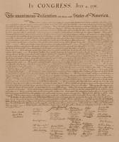 Vintage copy of The United States Declaration of I