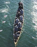Sailors practice rowing skills