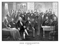 Vintage print of the first twenty-one Presidents s