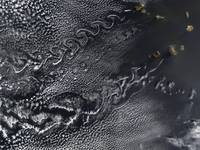 Cloud vortices over the Cape Verde islands