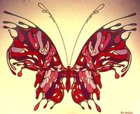 SPRING MAJESTY - 'Mauve and Pink Butterfly'